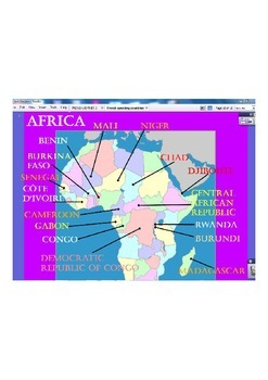 French Speaking Countries Introduction Interactive Whiteboard