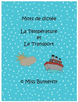 French Spelling Weather and Transportation