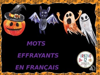 French: Spooky Halloween Words (Mots Effrayants)