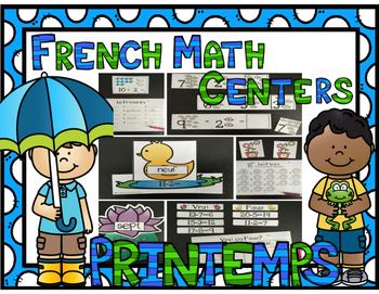 French Spring Math Centers