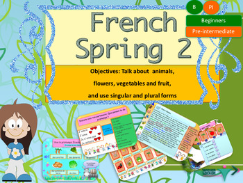 French Spring powerpoint, le printemps (animals, flowers e