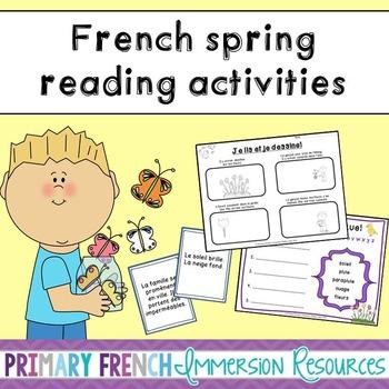 French spring reading activities - Les activités de lectur