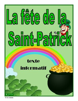 French - St. Patrick's Day Informative Text