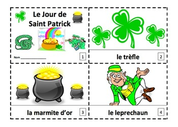 French St. Patrick's Day 2 Emergent Reader Booklets - Sain