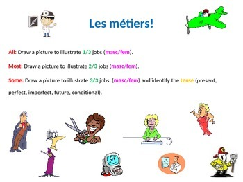 French Teaching Resources: Starter Activity/ Warmer : Jobs