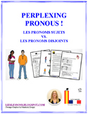 French Stress Pronoun Vs. Subject Pronouns