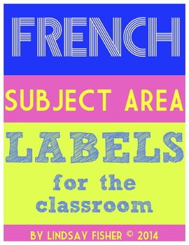 French Subject Labels