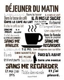 French Subway Art Poster Dejeuner du Matin