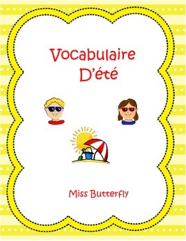 French Summer Spelling - Vocabulaire D'été