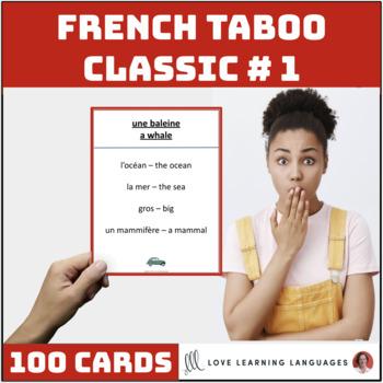 French Taboo Game, Version 1 - Jeu de Tabou en Français