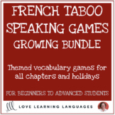 French Taboo Games Growing Bundle - Jeux de Tabou en Français