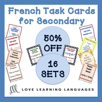 French Task Cards Bundle - Cartes à Tâches