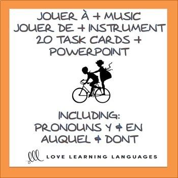 French Task Cards:  JOUER À vs JOUER DE