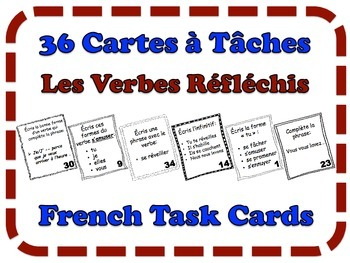 French Reflexive Verbs Task Cards