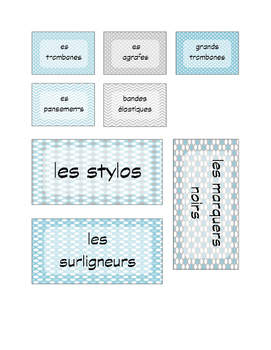 French Teacher Toolkit Labels
