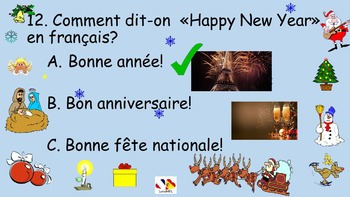 French Teaching Resources: Christmas Quiz. Noël.