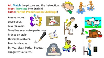 French Teaching Resources Classroom Instructions PowerPoin