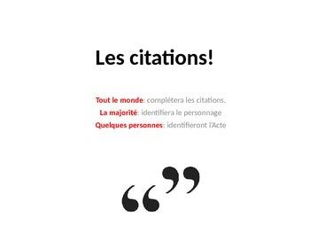 French Teaching Resources. Cyrano De Bergerac Quotations Warmer.