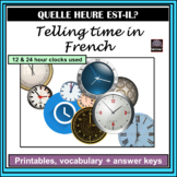 French – Telling Time Activities