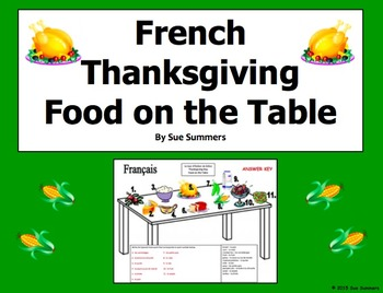French Thanksgiving Table and Vocabulary - Jour d'Action de Grace