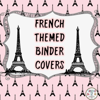 French Themed Binder Covers