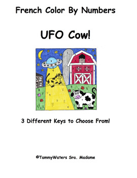 French UFO Cows Color By Numbers