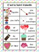 French Valentine's Day Literacy Bundle- Writing and Vocabulary