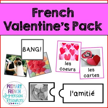 French Valentine's Day Pack – Vocabulary Games