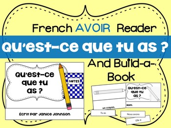French Verb Avoir School Object Reader & Build-A-Book