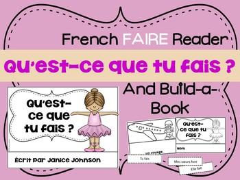 French Verb FAIRE Reader & Build-A-Book ~Qu'est-ce que tu