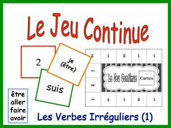 French Irregular Verbs Activity for Groups (Version 1)