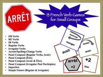 French Verb Games for Small Groups (13 Versions)