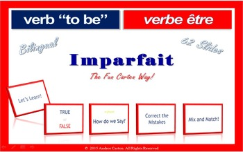 French Verb To Be... être, Interactive Past Tense Packet (