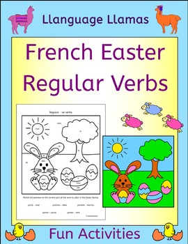 French Regular Verb Practice - Easter