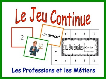 French Job and Profession Activity for Groups, Inventive T