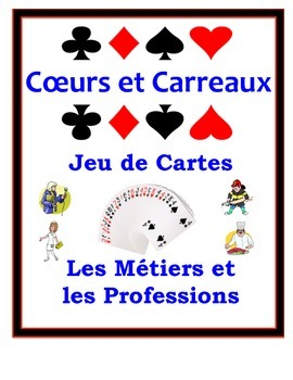 French Jobs and Professions Speaking Activity: Playing Car
