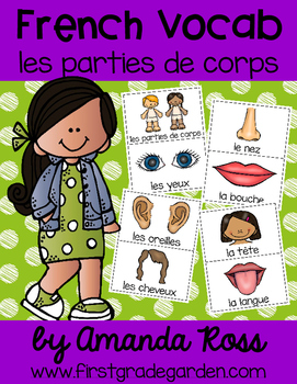 French Vocabulary Cards - Body Parts {les parties de corps}