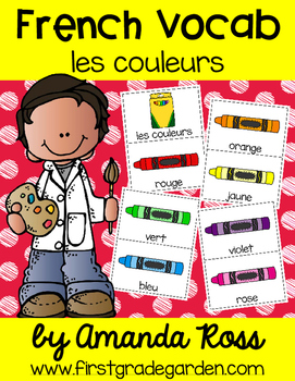 French Vocabulary Cards - Colours {les couleurs}