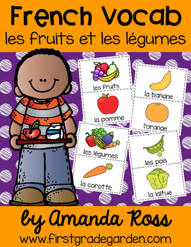 French Vocabulary Cards - Fruits & Vegetables {les fruits