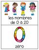French Vocabulary Cards - Numbers 0-20 {les nombres de 0 à 20}