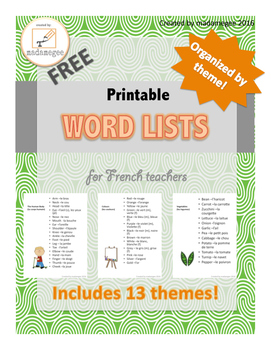 French Word Lists by Theme
