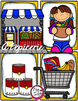 French Word Wall Card Collection - L'ÉPICERIE