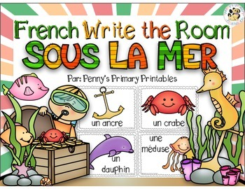 French Under the Sea Write the Room: Sous la Mer
