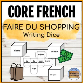 French Writing Dice: Shopping or Town Unit