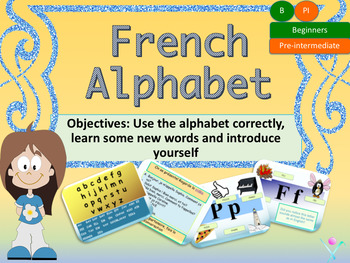 French alphabet, l'alphabet en français for beginners