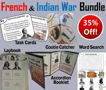 French and Indian War Task Cards and Activities Bundle