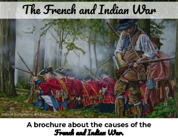 French and Indian War - Brochure plus map coloring activity