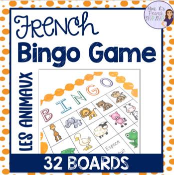 French animal bingo / les animaux