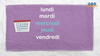 French Days and Months Video with Writing Activities