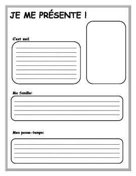 French beginning of school year activity